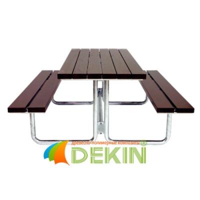 Стол с лавочками из ДПК. Мебель для сада и дачи.