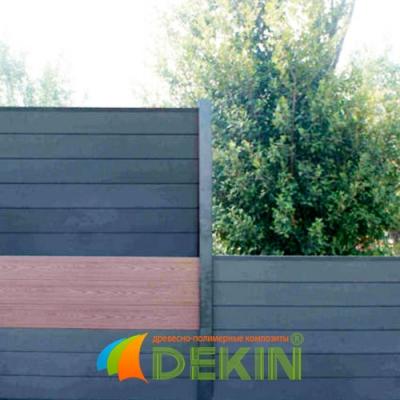 Забор из террасной доски ДПК