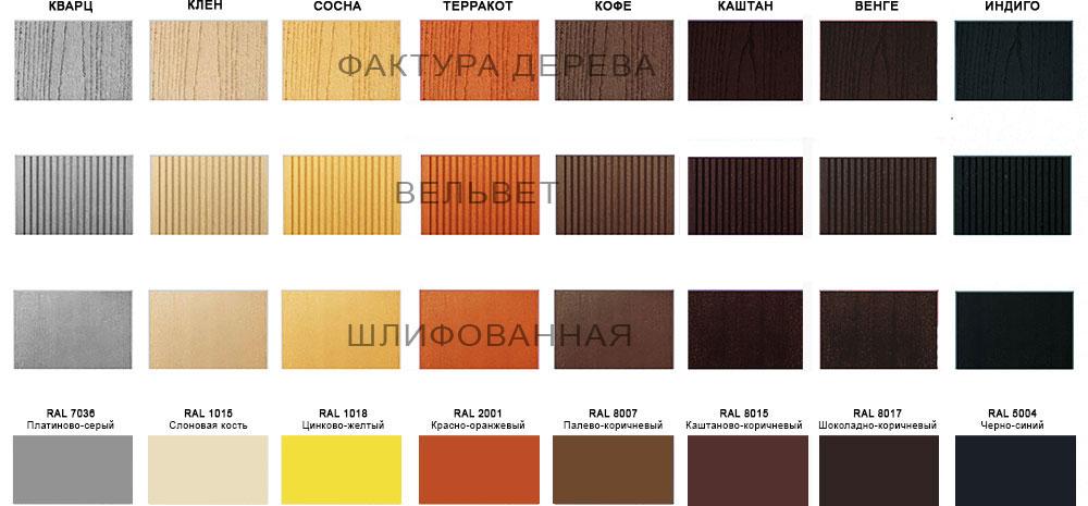 Цветовая палитра декинга